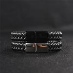 Jiayiqi-Nouveau-bijoux-pour-hommes-Punk-Noir-Bleu-Tress-En-Cuir-Bracelet-pour-Hommes-fermoir-magn