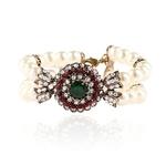 Bijoux-turcs-Vintage-Bracelet-Femme-rouge-vert-r-sine-ronde-cristal-Imitation-perles-perles-Bracelets-Bracelets