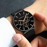 CRRJU-montre-bracelet-pour-hommes-marque-de-luxe-tanche-Ultra-mince-bracelet-en-maille-Quartz-collection