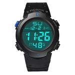 Mode-tanche-Hommes-de-Gar-on-LCD-chronom-tre-num-rique-Date-Caoutchouc-montre-de-Sport