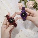 Livraison-directe-montre-de-mode-Femmes-Romantique-Ciel-toil-montre-bracelet-d-contract-Multiple-Couleur-maille
