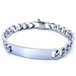 100-Bracelet-en-acier-inoxydable-9mm-8-pouces-gourmette-cha-ne-cubaine-lisse-Bar-ID-Bracelets