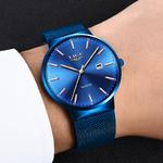 LIGE-haut-tendance-Marque-De-Luxe-Hommes-Pleine-acier-inoxydable-bracelet-maille-montres-d-affaires-Mens
