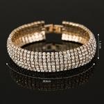 Cristal-de-luxe-Bracelets-Pour-Les-Femmes-Or-et-Argent-Plaqu-Lien-Bracelet-Bracelet-Mode-Plein