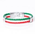 Italy Flag_bracelet-en-cuir-avec-identification-ave_variants-2