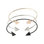 Femme-Bracelet-Bijoux-mode-Triangle-Bracelets-Bracelets-pour-femmes-Bracelet-fl-che-noir-or-couleur-manchette