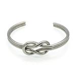 Bracelet-Manchette-avec-n-ud-fait-la-main-en-acier-titane-couleur-or-pour-femmes-vente