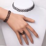Mode-t-Style-Bracelet-Femmes-Stretch-Vintage-Tatouage-Bracelet-Ensemble-R-tro-Gothique-Punk-lastique-R