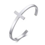 style1 silver_bracelet-croise-argente-en-acier-inoxyda_variants-1