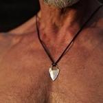 Collier-avec-pendentif-t-te-de-fl-che-en-acier-inoxydable-pour-hommes-bijoux-avec-cha