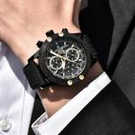 BENYAR-Sport-chronographe-mode-montres-hommes-maille-et-bande-de-caoutchouc-tanche-marque-de-luxe-montre