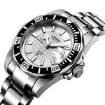LOREO-hommes-Sport-20ATM-r-sistant-l-eau-lumineux-rotatif-lunette-en-acier-inoxydable-bracelet-simple
