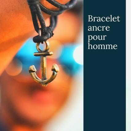Bracelet ancre pour homme (3)