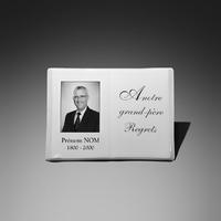 Livre photo personnalisable prêt à poser, en porcelaine