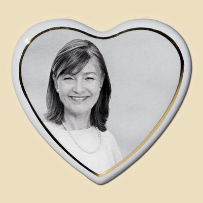 medaillon photo porcelaine coeur