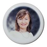 Photo porcelaine funéraire ronde couleur BB-Blanc