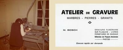 Atelier de gravure marbre