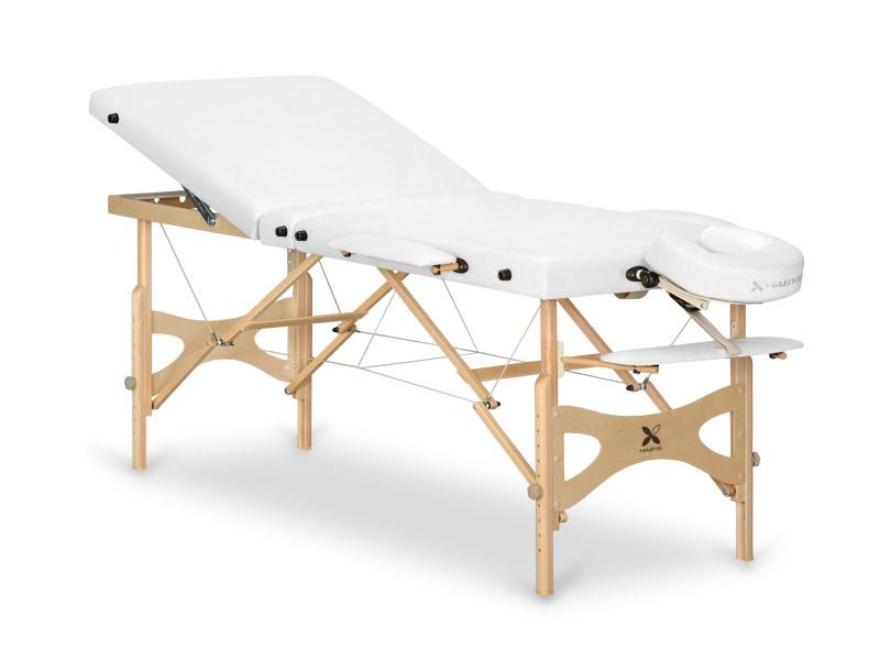 Table de massage en bois portable - pliante PANDA + Hêtre Naturel