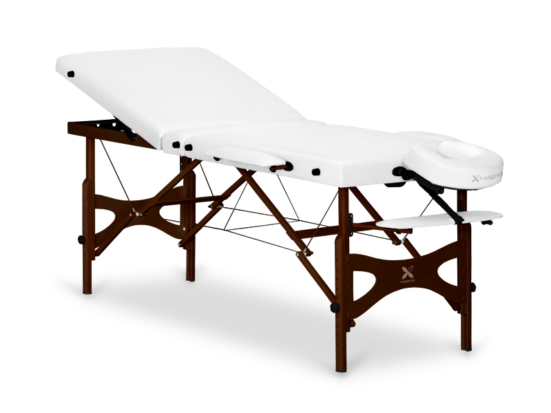 Table de massage en bois portable - pliante PANDA + ACAJOU