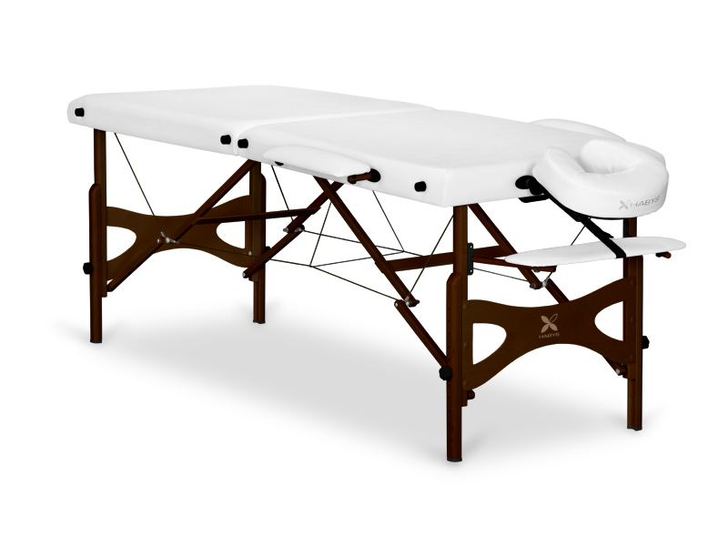 Table de massage en bois portable - pliante PANDA ACAJOU