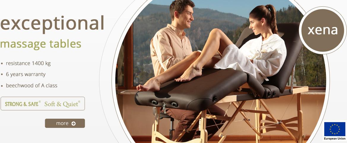 Table de massage en bois portable - pliante XENA