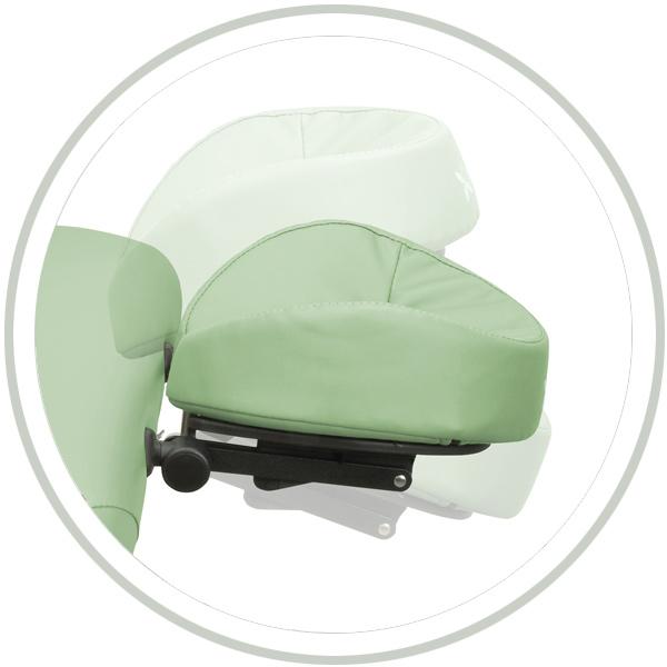 Têtière amovible 2D pour chaise et table de massage