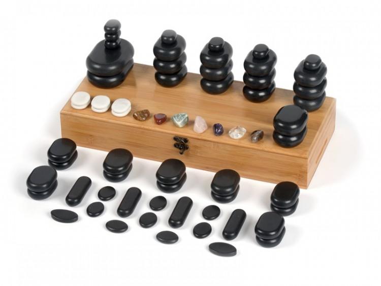 64 pierres chaudes pour massage