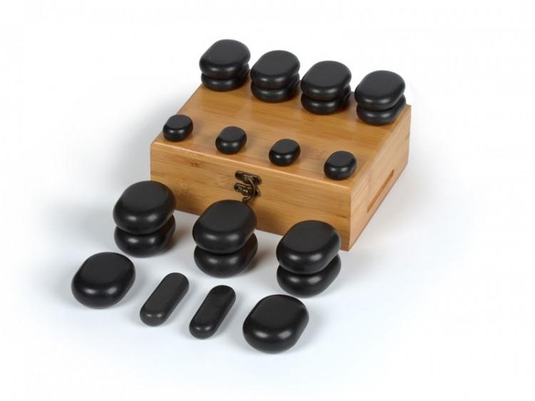 22 pierres chaudes pour massage