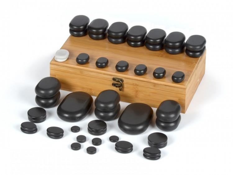 50 pierres chaudes pour massage