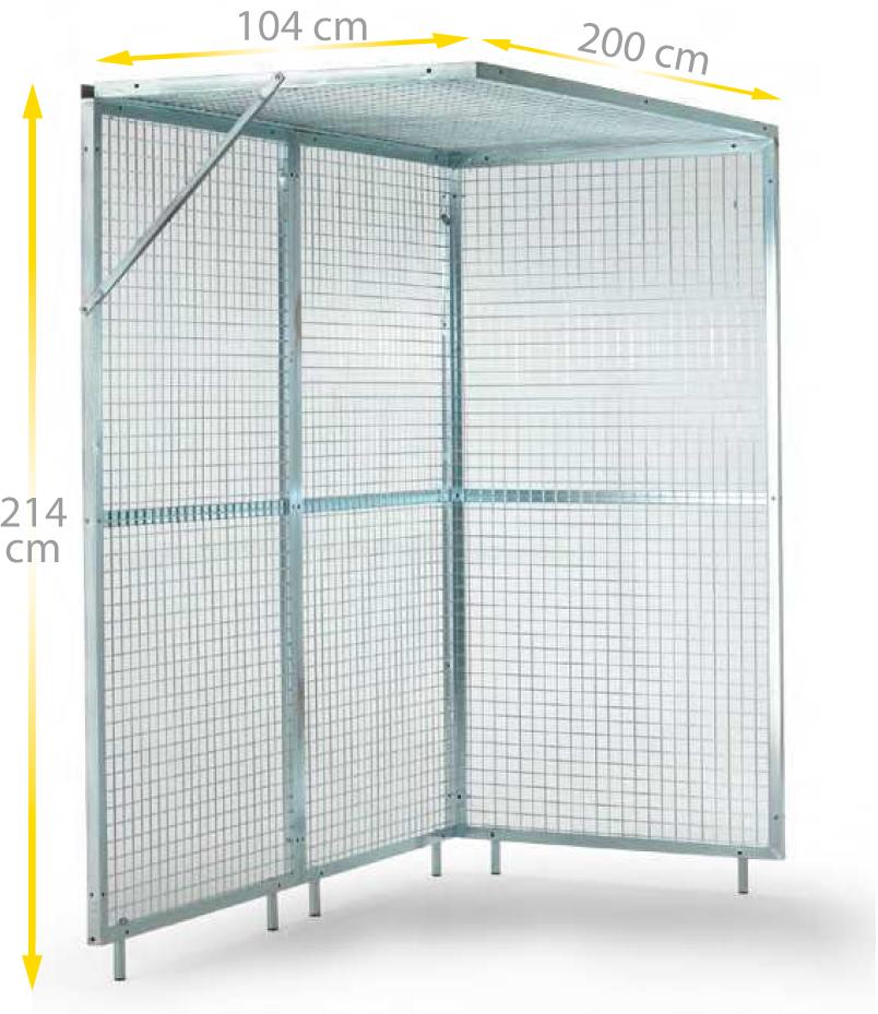 Cage d\'angle de pouliethérapie - FERROX
