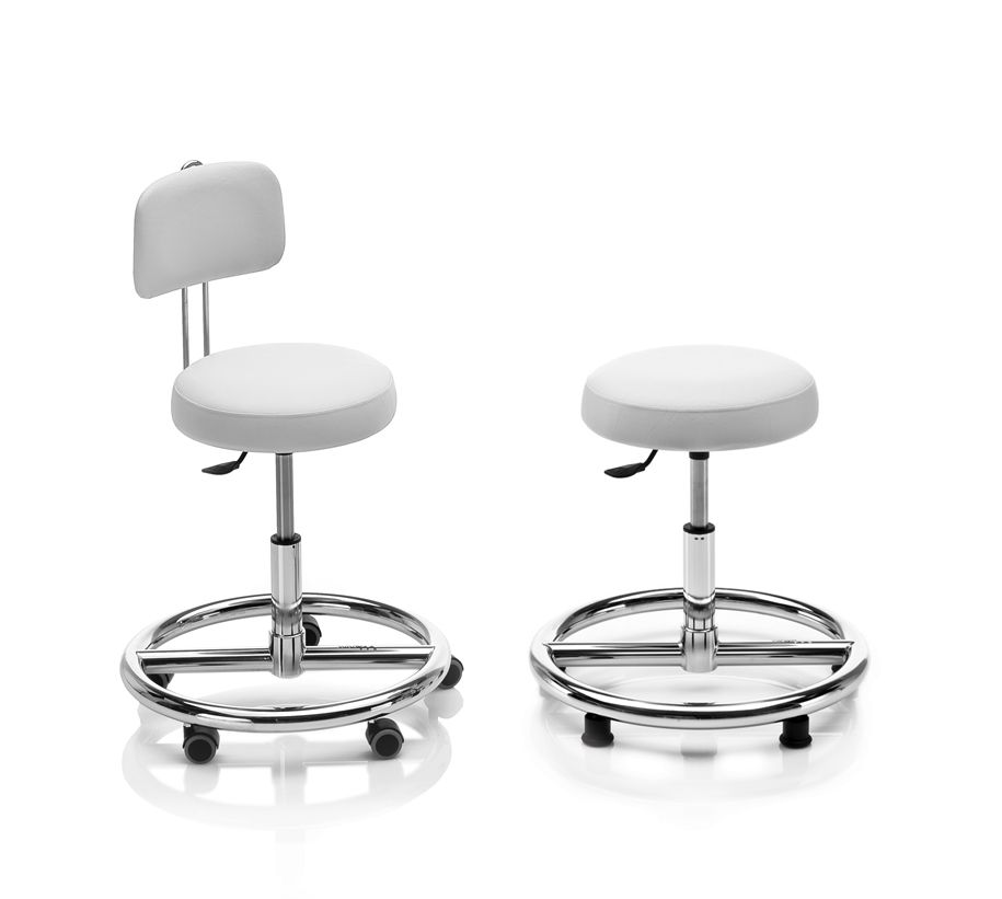 Tabouret assise ronde base circulaire S0 NOVAK