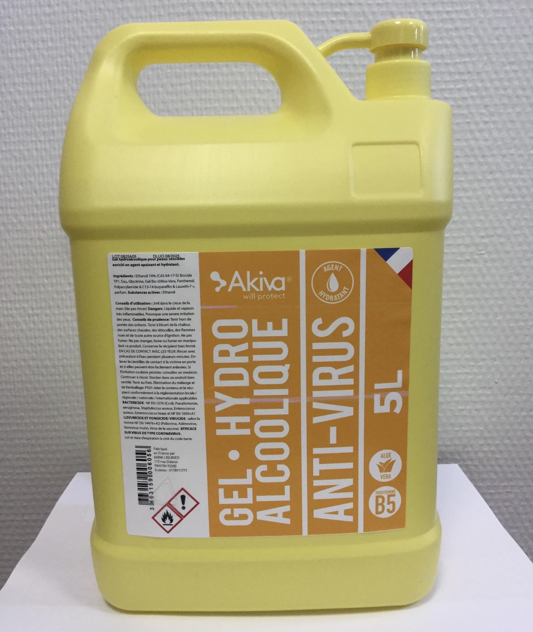 Bidon 5L pompe Gel Hydroalcoolique