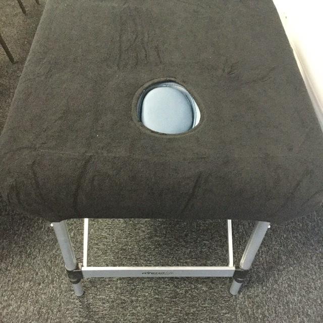 Housse éponge table de massage Noire