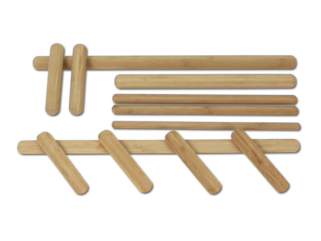Set de bambou pour massage (12 pièces)