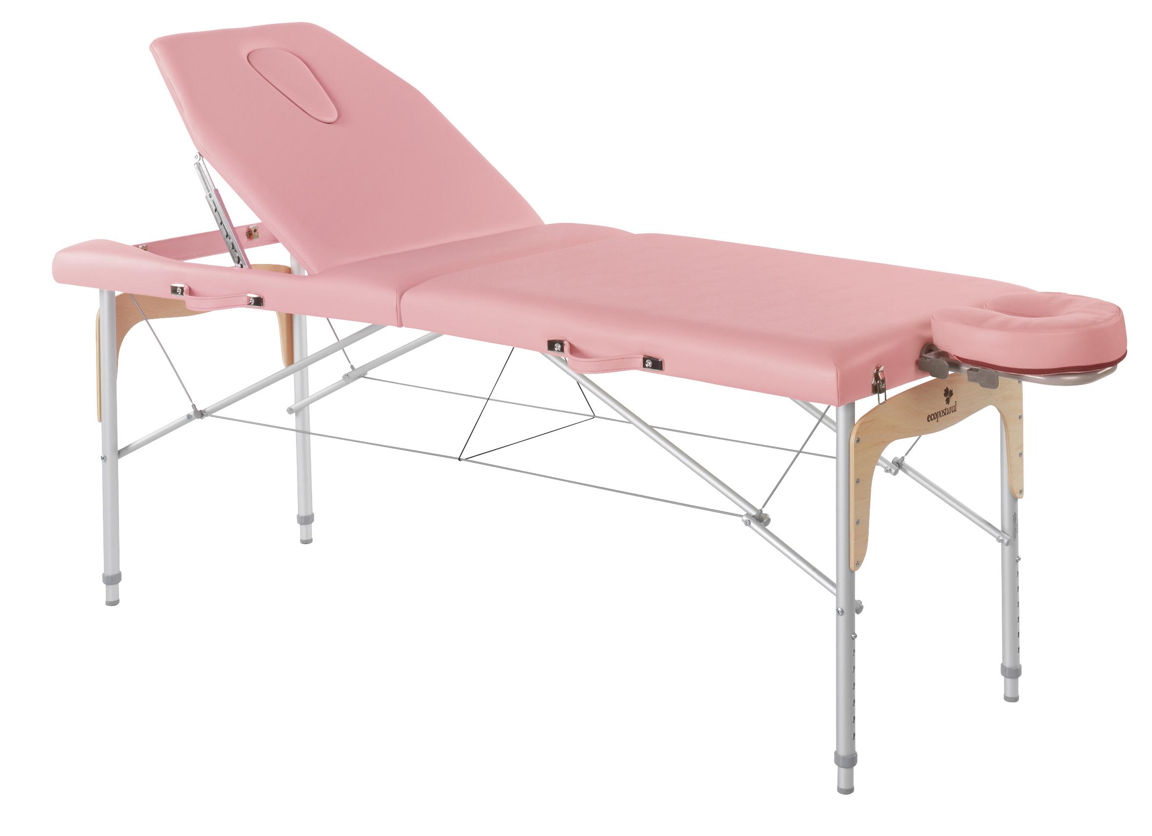 C3316 table de massage portable aluminium avec dossier