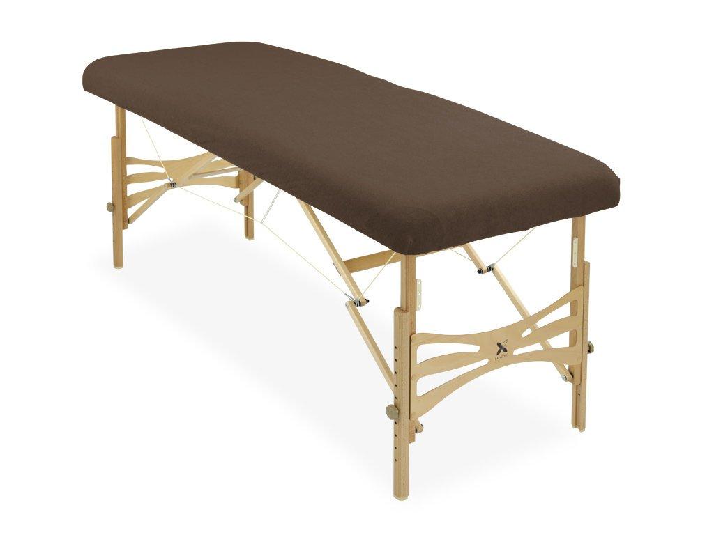 housse éponge marron chocolat table de massage portable habys mobercas ecopostural tablelya 1