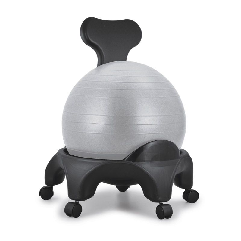 Chaise ergonomique avec ballon Tonic Chair® gris