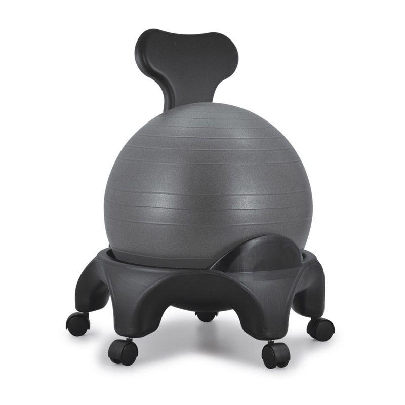 Chaise ergonomique avec ballon Tonic Chair® Noir