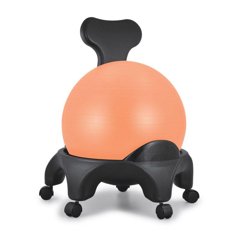 Chaise ergonomique avec ballon Tonic Chair® orange