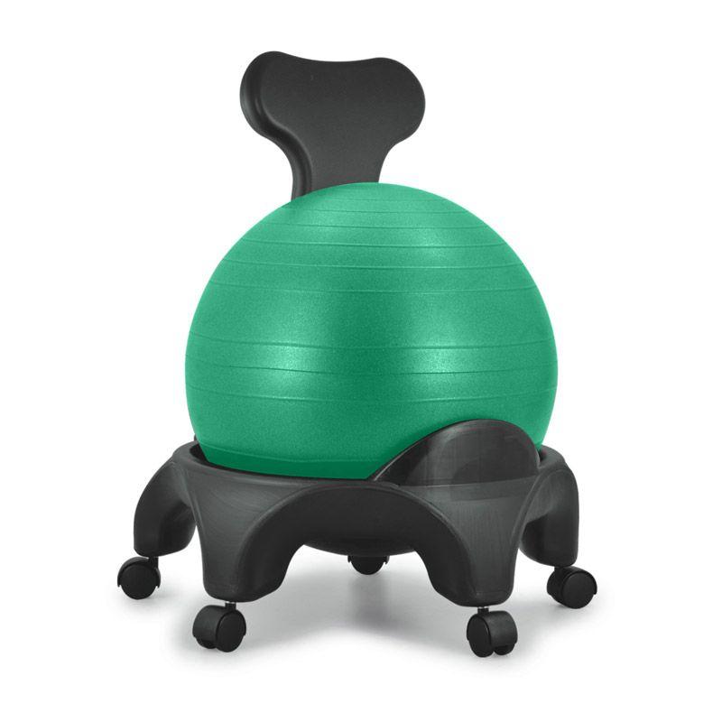 Chaise ergonomique avec ballon Tonic Chair® vert