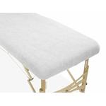 housse éponge blanche table de massage portable habys mobercas ecopostural tablelya gros plan