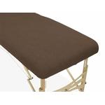 housse éponge marron chocolat  table de massage portable habys mobercas ecopostural tablelya gros plan