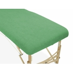 housse éponge verte table de massage portable habys mobercas ecopostural tablelya gros plan