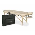 Table de massage et d'examen Elza Aveno Life Habys portable pliante en bois Coins arrondis couleur crème