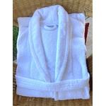 peignoir de bain adulte blanc plié kodev spa hotel luxe tablelya