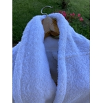 peignoir de bain blanc adulte spa hotel zoom sur le col chale