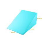 coussin triangle trapeze turquoise hauteur 15 cm socopedic tablelya