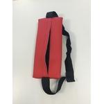 coussin cervical CER rouge mobercas tablelya avec sangle arriere ouverte par velcro