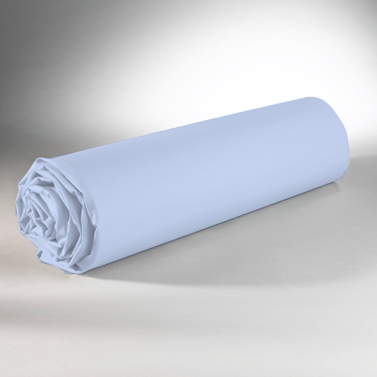 Drap housse 100% coton 140x190+25 bleu clair