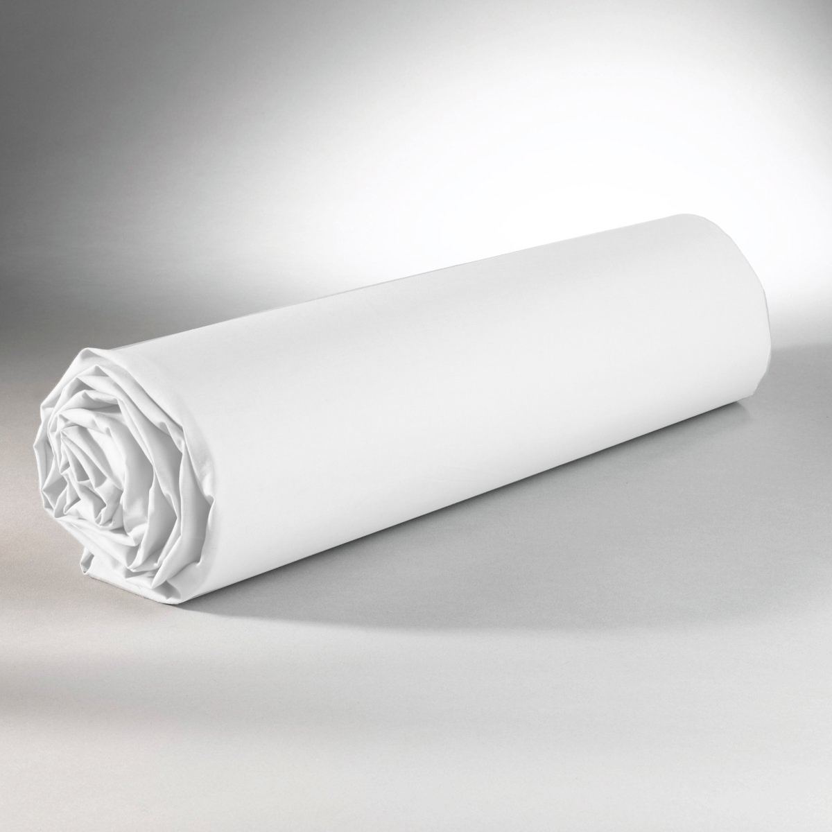 Drap housse 100% coton 180x200+25 blanc